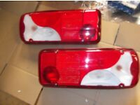GENUINE MERCEDES Sprinter/ VW Crafter 06-17 CHASSIS CAB REAR BACK LIGHTS PAIR RECOVERY,TRANSPORTER