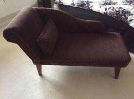 Brown chaise longue