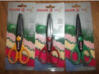 3 pairs of new craft scissors , for card making and other craft projects.