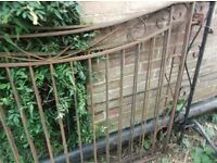 Set Of Nice Vintage Iron Gates in Very Good Condition