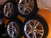"Set of 18"" tires and alloy rims"