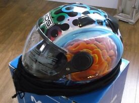 AGV / MDS Brainstorm Motorbike Helmet in Size Large But Closer To Medium in Fitment New in Box.