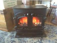 Villager cast iron stove electric fire.