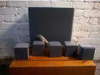 Sony surround sound 5.1 speaker set.