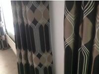 Modern design lined curtains
