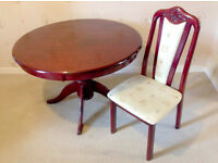 Dining Table and 4 chairs.