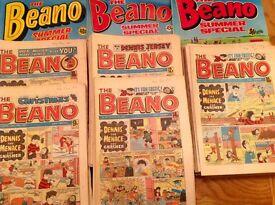 Beano Comics 130 copies 1981-1985 plus 3 summer specials