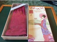 Ladies gloves size m/l in fuchsia