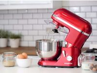 NEW Red Stand Cake Mixer 5.2L Electric Food Stand Mixer 1300W Splash Guard