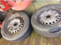 2 x Ford Focus wheels 205 55 16