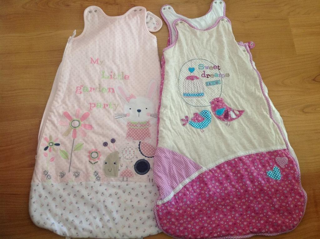 Baby girls gro bags size 12-18 months, 1 tog and 2.5 tog ...