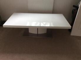 Gloss white coffee table