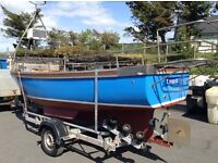 17ft Potting Boat , suitable for commercial and pleasure, inboard diesel engine.