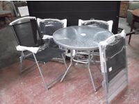 GARDEN TABLE & FOUR CHAIRS (BRAND NEW)