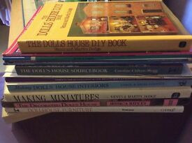 Nice selection of dolls house books and DH project books