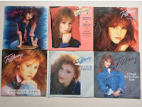 "TIFFANY Singles Collection of 6 x 7"" Vinyl Records in Pic Sleeve 1980's in EX Condition."