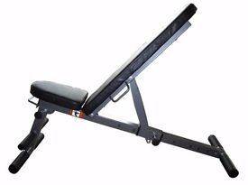 Weight lifting Bench Adjustable Folding Bench Exercise Training Bench Gym Fitness 7 in 1 NEW UKFit