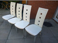 4 White Dining Table Chairs