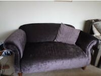 Dunelm Mill Purple Sofa