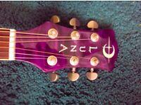 Luna Eclipse Electro Acoustic Guitar - Transparent Purple Finish