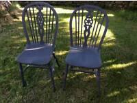 2 x Wheelback Chairs