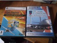 Microsoft Flight Simulator X Gold Edition plus Mega Airport Heathrow