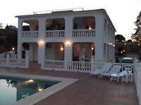 Shabilla Villa, nr Malaga, sleeps 10, air con, private pool, wifi, BBQ and fantastic views.
