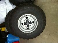 Stock Can Am Outlander Tires and Rims