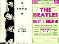 BEATLES MARGATE CONCERT PROGRAMME AND SHOW FLYER TWO ITEMS