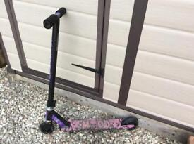 Modd purple and black scooter, from john lewis