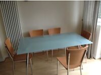 Glass Dining Room Table With Six Chairs