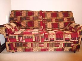 2 seater metal action sofa bed.