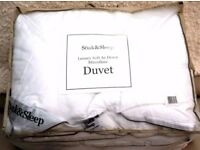BRAND NEW - TOP END - MICROFIBRE DUVET - SOAK & SLEEP - LUXURY SOFT AS DOWN - 9 TOG - KING SIZE