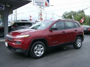 2014 Jeep Cherokee SPORT 4X4 PRETTY JEEP !! WE FINANCE !!