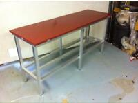 Butchers poly cutting table