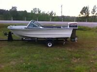 Mustang boat with 70 hp johnson