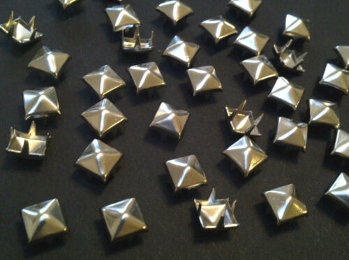 CraftbuddyUS 200pcs 3mm Silver Pyramid, Punk, Rock, Leather Bag Shoe Stud Craft