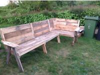 Handmade rustic garden furniture- Kirby bedon