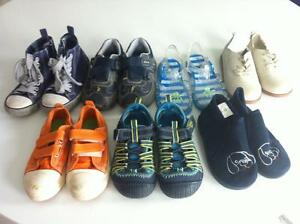 7 pairs of boys shoes / sandals size 10