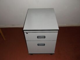 two drawer white filing cabinet