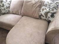 DFS corner sofa and storage foot stall