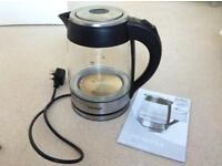 VonShef Glass kettle 13/140 works intermittently. For spares or parts.