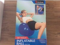 Inflatable exercise ball.