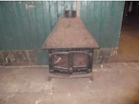 Black Cast Iron Wood Burner