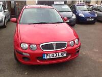 ROVER 25 IMPRESSION 3 - 1396cc - MOT - 23/07/2017 - RED - VERY LOW MILES 57000 - P/X WELCOME