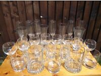Various 26 Bar Drink Party BBQ Glasses Collection Only Great Condition