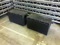 Pair of twin subwoofers PA speakers