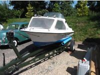 15 Foot Fishing Boat, Trailer and Engine.