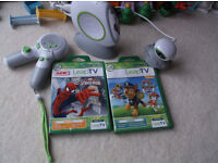 Leapfrog TV games console - 1 Controller, Spiderman and Paw Patrol games Included