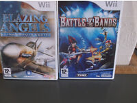 Blazing Angels and Battle of the Bands Wii